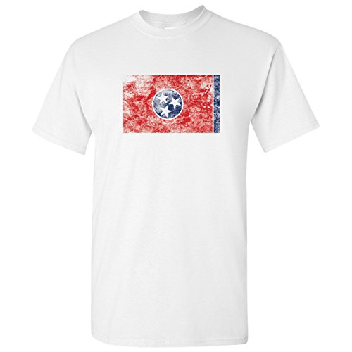 (UGP Campus Apparel Tennessee State Flag Basic Mens T-Shirt - Medium - White)