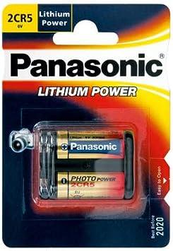 Batería de Litio Panasonic 2CR5 6V Foto de Alimentación 10-Pack, 1600mAh: Amazon.es: Electrónica