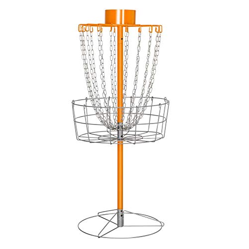 Yaheetech 18 Chain Portable Disc Golf Basket Target- Golf Goals Baskets Practice Sets