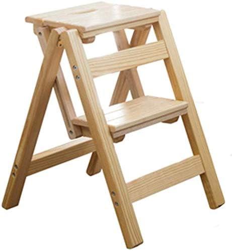Shelves Escaleras Escalera Plegable taburetes de Madera Paso heces Multi Función Paso heces Dos baño y Cocina Taburetes Corredor Espiga de Escalera Principal Soporte de Almacenamiento: Amazon.es: Hogar