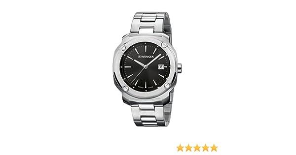 Amazon.com: Wenger Mens Edge Index Watch Quartz Sapphire Crystal 01.1141.109: Watches