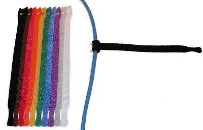 Bk Rip Tie (Rip-Tie Y-08-010-BK CableWrap Lite,1/2x8in,Black)