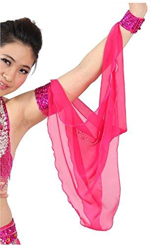 1piece-belly-dance-costume-accessories-wristchiffon-arm-sleeve-fuchsia