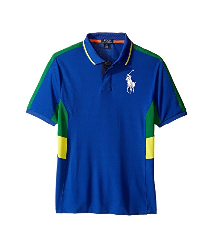 Ralph Lauren Boys Big Pony Paneled Polo Shirt (Small (8), Sapphire Star) - Ralph Lauren Polo Shirts Kids