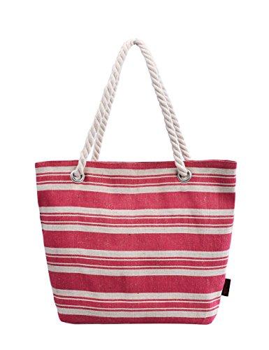 Shoulder Canvas Tote Handbag 252M Bag Beach Douguyan A RwtE7qInn