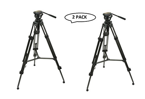 Magnus VT-4000 Professional High Performance Tripod System with Fluid Head (2 Pack) by Magnus