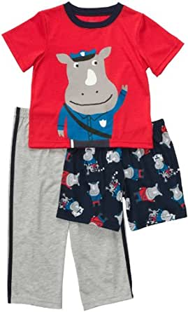 Carter's 3-Piece Poly - Rhino Police-12 Months