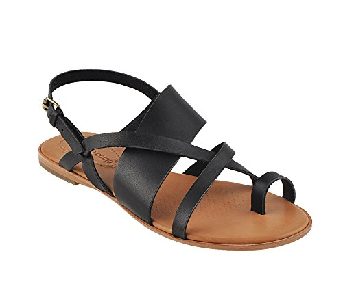 Corso Como Womens Carnival Toe Ring Sandal  Black  6 M Us