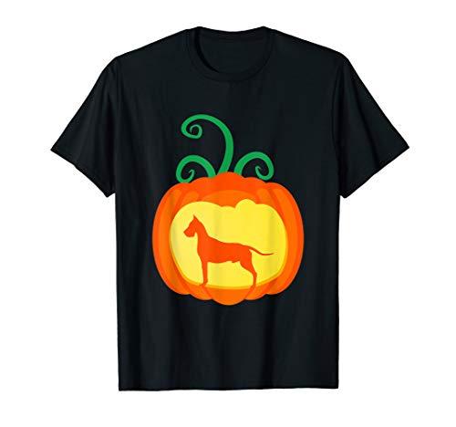Great Dane Pumpkin Lantern Dog Lover Halloween Costume T-Shirt -