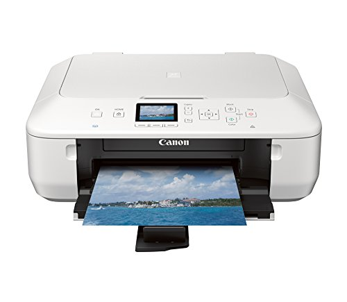 Canon PIXMA MG5520 Wireless All-In-One Color Photo Printer with Scanner, Copier and Auto Duplex Printing, White (Tablet Ready) by Canon