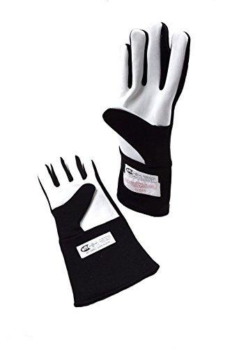 RJS Racing Equipment SFI 3.3/5 2 Layer Nomex Racing Gloves Black Large