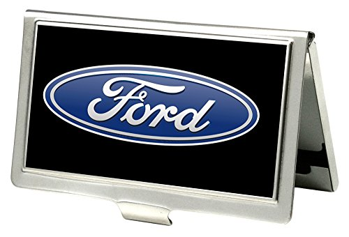 Buckle-Down Business Card Holder - Ford Oval Logo Black/Blue - Small