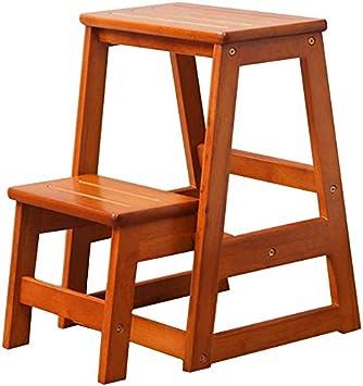 AGWa Muebles para la sala Escalera Escabel zapato banco del vector de café de madera sólida escalera Taburete escalera plegable escalera del hogar de madera multifunción Creative Kitchen Escalera Esc: Amazon.es: Bricolaje