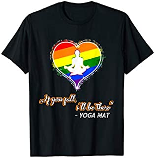 Birthday Gift Lgbt Yoga  | Funny Yoga Saying gift for Yoga Teacher Long Sleeve Funny Shirt / Navy / S - 5XL