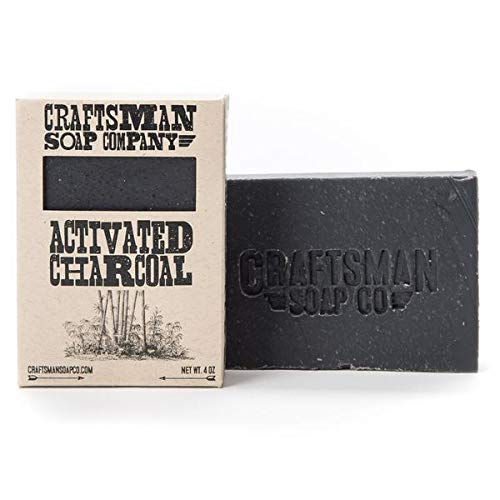 Activated Charcoal, Bamboo Charcoal Vegan Bar Soap. 100% All-Natural Handmade.