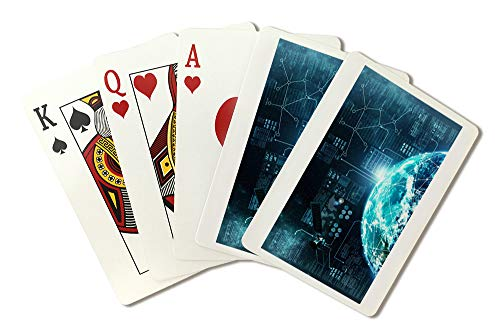 - Internet Connection In Outer Space Globe Illustration A-91821 (Playing Card Deck - 52 Card Poker Size with Jokers)