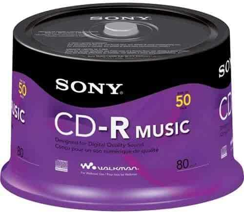 Sony 50CRM80RS Audio  CD-R, 50-Pack Spindle