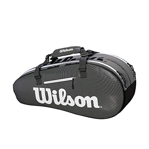 Wilson Super Tour 2 Small Compartment Tennis Bag, Black/Grey