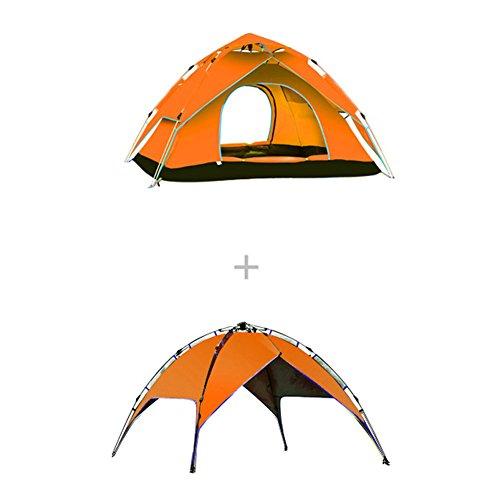 セットアップ備品スクラップ5W アウトドアテント 4-5人用 3WAY テント 設営簡単 高通気性 紫外線カット 防雨 防風 キャンプ用品 アウトドア 登山 折りたたみ 収納ケース ツーリングテント 240*210*135cm 3.7kg