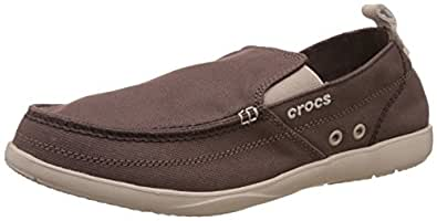 Crocs  Men's Walu Espresso/Cobblestone Loafer