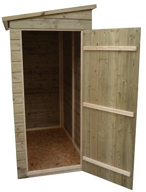 garden shed 7x3 pent shed tanalised tongue groove shiplap