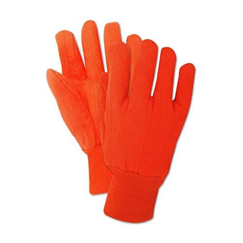 Magid Glove & Safety 795JKWNL Magid MultiMaster Orange Double Palm Canvas Gloves w/Knit Wrist, Men's (Fits), Yellow, Men's Jumbo (Fits XL) (Pack of 12) ()