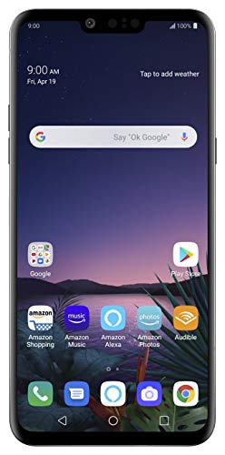 LG G8 ThinQ with Alexa Hands-Free - Unlocked SMARTPHONE - 128 GB - Aurora Black (US Warranty) - Verizon, AT&T, T-Mobile, Sprint, Boost, Cricket, & Metro