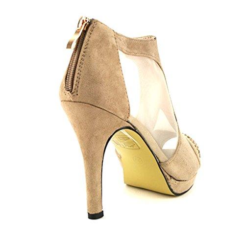 Chaussures Anyssa Salomé Boots Résille Et Femme Beige Velours Low En Cendriyon xCwpqP7g7