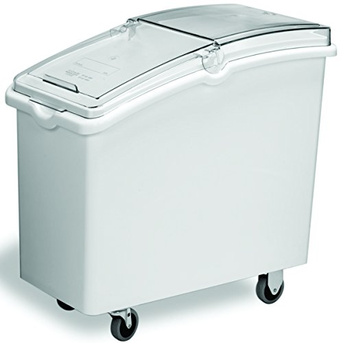Continental 9326, White 26 Gallon Mobile Ingredient Bin by Continental