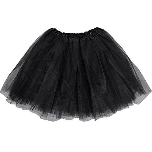 BellaSous Top Rated Classic Elastic Ballet-Style Adult Tutu Skirt, by Great Princess Tutu, Adult Dance Skirt, Petticoat Skirt or Pettiskirt Tutu for Women. Tulle Fabric (Black Tutu, One (Fashion Tutu Skirts For Adults)