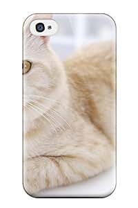 Hot Design Premium FocCAqH6543fUufT Tpu Case Cover Iphone 4/4s Protection Case(cat S Felines Animal Cat)