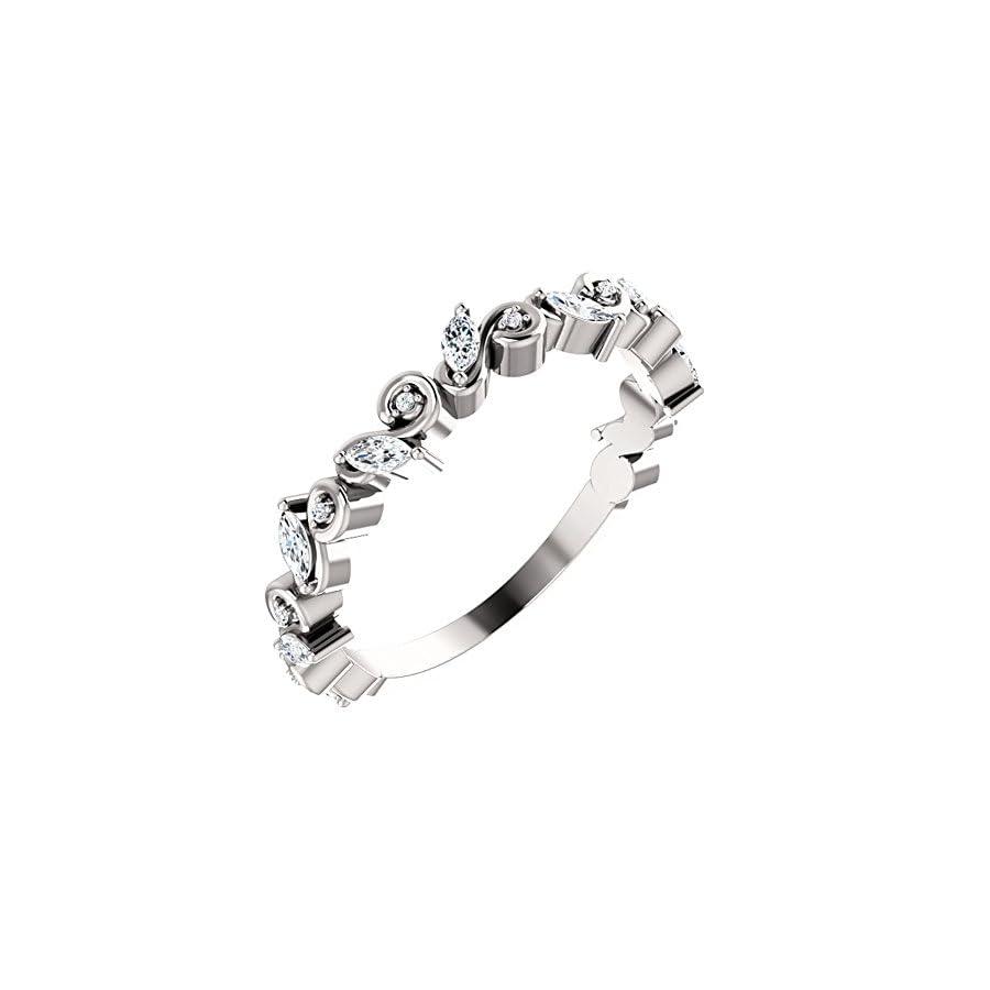 1.00 ct Ladies Round Cut Diamond Eternity Wedding Band in Platinum