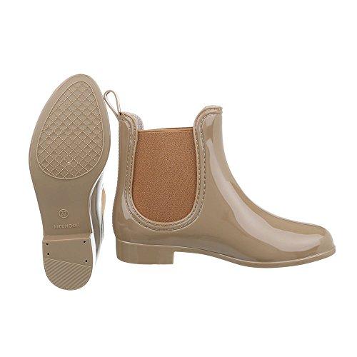 Ital-Design Women's Rubber Boots Light Brown Q4CfS