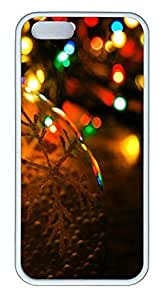 iPhone 5 5S Case Christmas Blur TPU Custom iPhone 5 5S Case Cover White by Maris's Diary