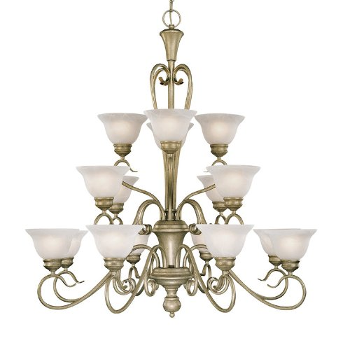 Devonshire 16 Light Chandelier Finish: Black