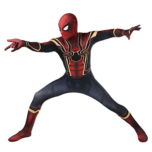 DAELI Iron Spider Costume Full Set,  Black and Red, -