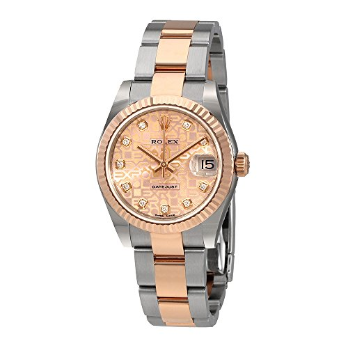 Rolex Datejust 31 Pink Jubilee Diamond Dial Automatic Ladies Watch 178271PJDO (Rolex Datejust Lady 31 Rose Gold Price)