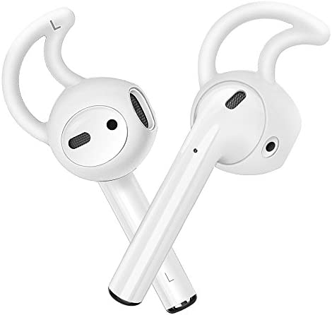AirSha Hooks and Covers Accessories Compatible for AirPods and EarPods Earphone Earbuds 3 Pairs Milk White