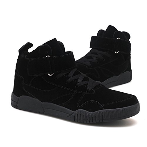 Capo Spettacolo Tm Mens Autunno E Inverno Moda Casual Sneakers Alte Scarpe Sportive Traspiranti Alla Caviglia # 1106 All-black