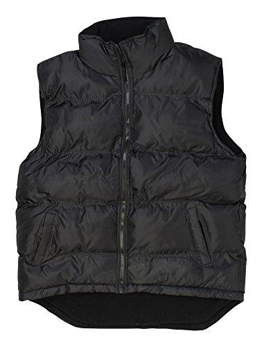 North 15 - Men's Nylon Vest, Polar Fleece Lined - Large, Black ()