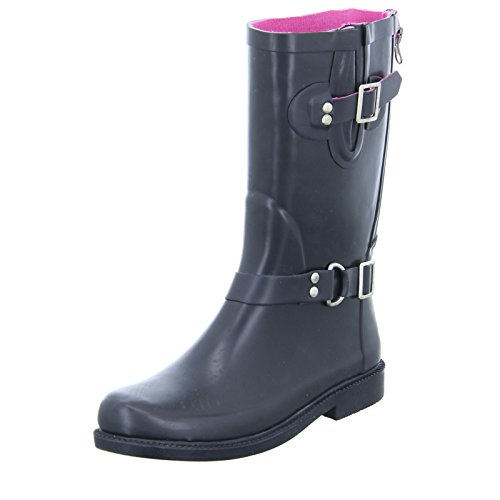 Jewels of Style Damen Gummistiefel Schwarz