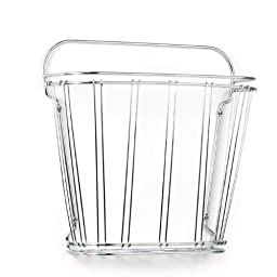 Spectrum Diversified Double Wire Wall Mount Magazine Rack, Chrome
