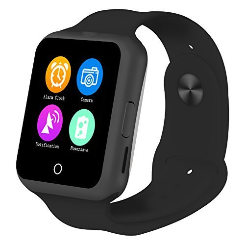 Smartwatch5ive U Watch Bluetooth 3.0 Smart Wrist Wrap Watch Phone with Bulit-in 0.3M Camera Heart Monitor Sleep Monitor Pedometer Activity Tracker Anti-lost SMS Notification (Black)