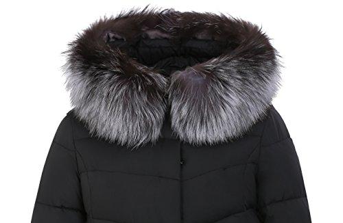 negro guateada Manga Abrigo chaqueta ICEbear mujer para Larga UOZaqWx7