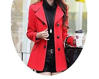 Amazon.com: Casual Fashion Long Woolen Winter Coats Warm