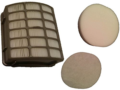 Shark Navigator Professional Upright Vacuum Filter Kit fits NV80, NV70, NVC80C, UV420, NV90 part # XFF80 & XHF80, by Casa Vacuums
