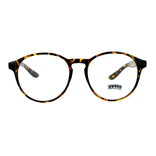 SA106 Geeky Nerd Oversize Round Thin Plastic Keyhole Eye Glasses - For Women Glasses Geeky