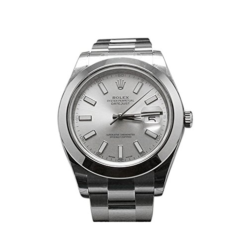 - NEW Rolex Datejust II Stainless Steel Silver Dial Mens watch 116300 SIO