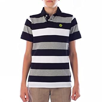 Nike Grand Slam Stripe 465288 10 Joven Polo Moda, niño, negro ...