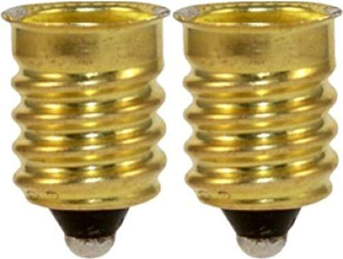 "Satco 92-401 French To Candelabra E14 - E12 Reducer Socket (Pack of 2), E12 Candelabra Base, E14 Socket, 0.2"" Extension"